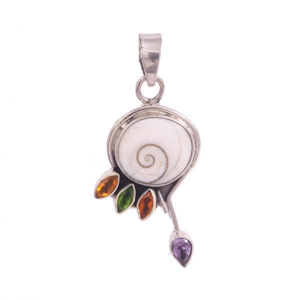 Shiva eye, citrine, amethyst