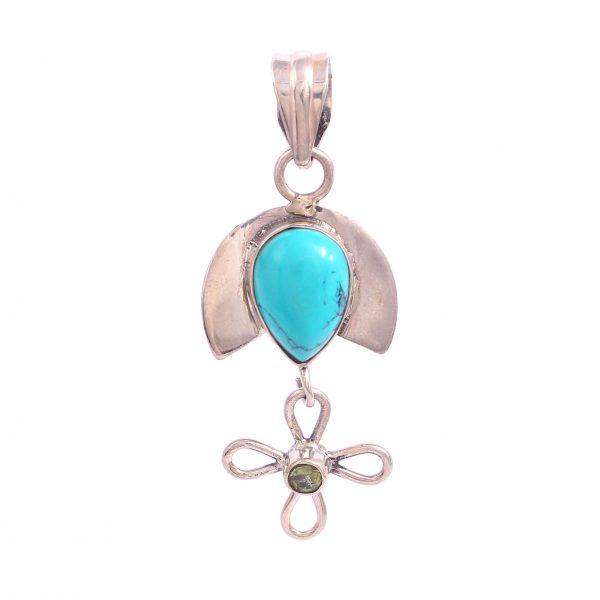 Peridot and Turquoise Pendant