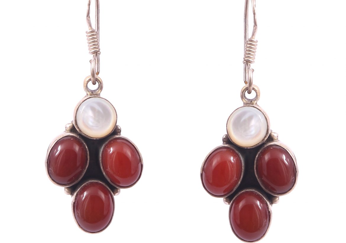Mother of Pearl and Carnelian