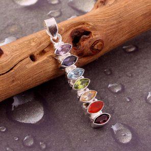 Multi gemstone chakra