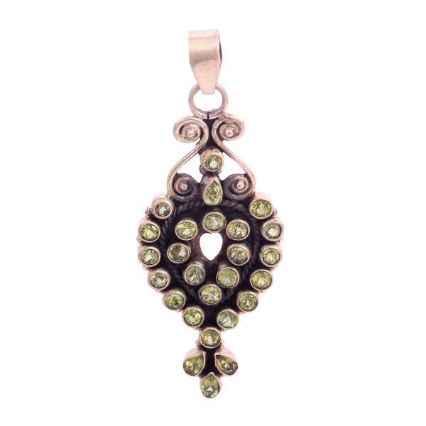 Green Peridot Gemstone Pendant