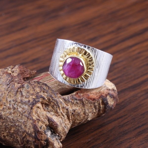 Ruby Two Tone Gold Plated