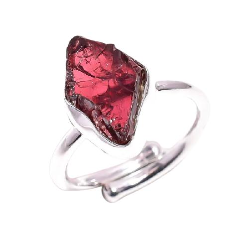 Raw Garnet Ring
